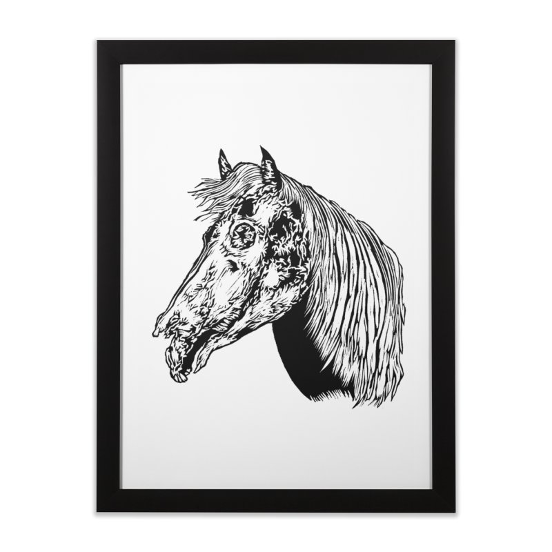 Zombie Horse Home Framed Fine Art Print by DaNkJiMz