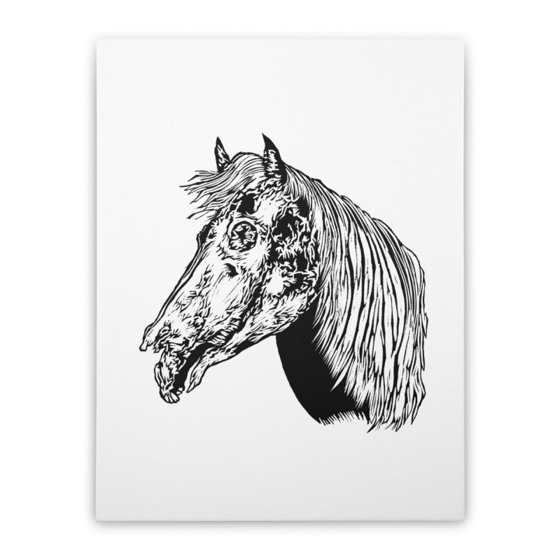 Zombie Horse Home Stretched Canvas by DaNkJiMz