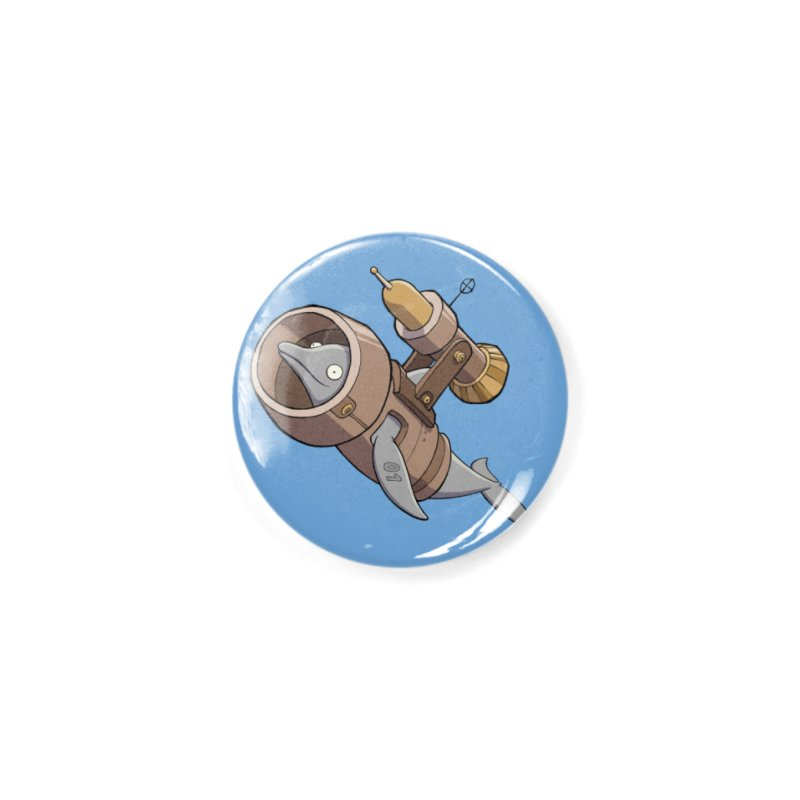 Deponia - Torpedo Dolphin Accessories Button by Official Daedalic Merchandise