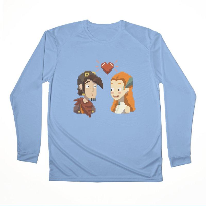 Deponia - Pixel Love Women's Longsleeve T-Shirt by Official Daedalic Merchandise