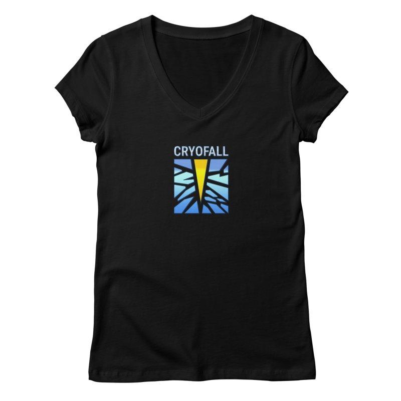 CryoFall - Logo Women's V-Neck by Official Daedalic Merchandise