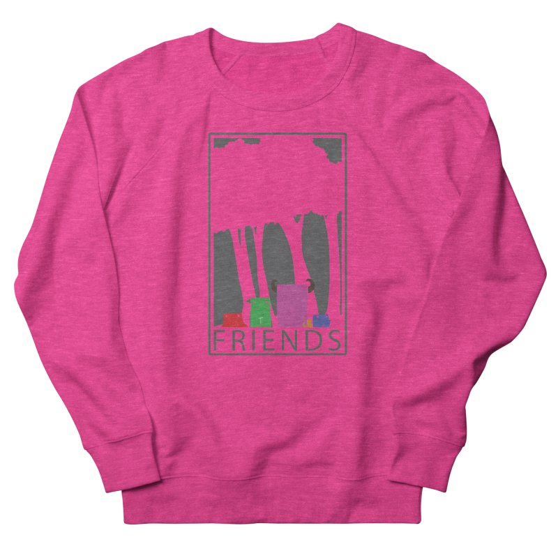 FRIENDS Men's French Terry Sweatshirt by Dagoozle's Artist Shop