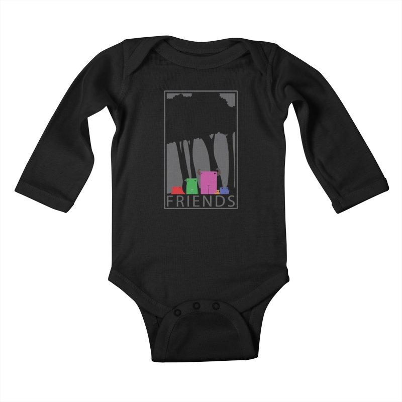 FRIENDS Kids Baby Longsleeve Bodysuit by Dagoozle's Artist Shop