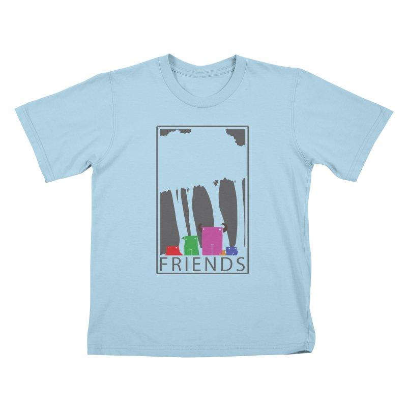 FRIENDS Kids T-Shirt by Dagoozle's Artist Shop