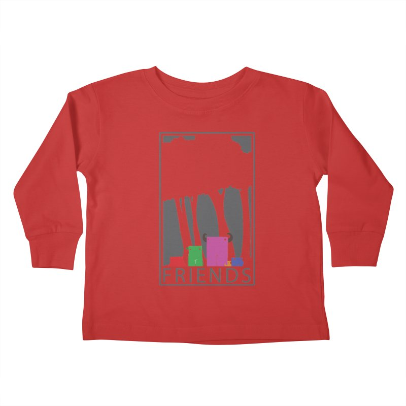 FRIENDS Kids Toddler Longsleeve T-Shirt by Dagoozle's Artist Shop
