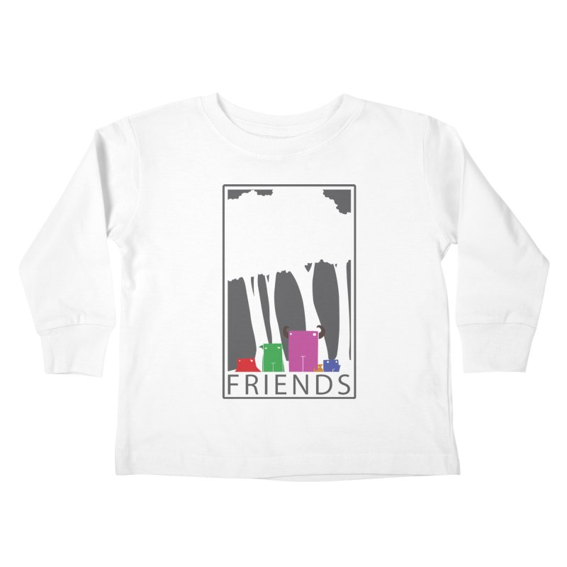 FRIENDS Kids Toddler Longsleeve T-Shirt by Dagoozle's Artist Shop