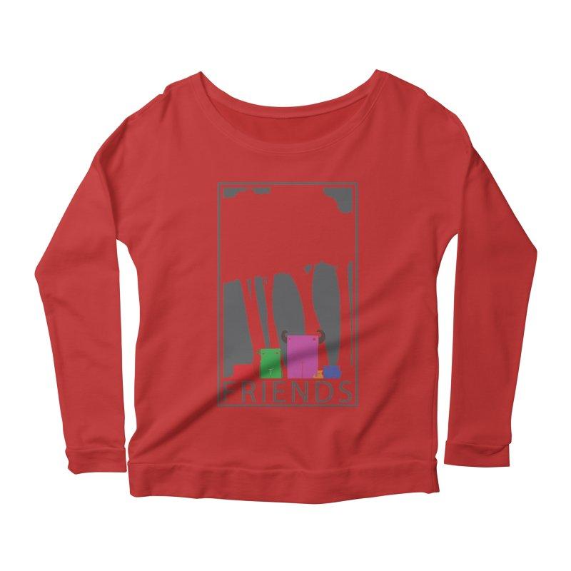 FRIENDS Women's Scoop Neck Longsleeve T-Shirt by Dagoozle's Artist Shop