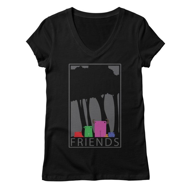 FRIENDS Women's V-Neck by Dagoozle's Artist Shop