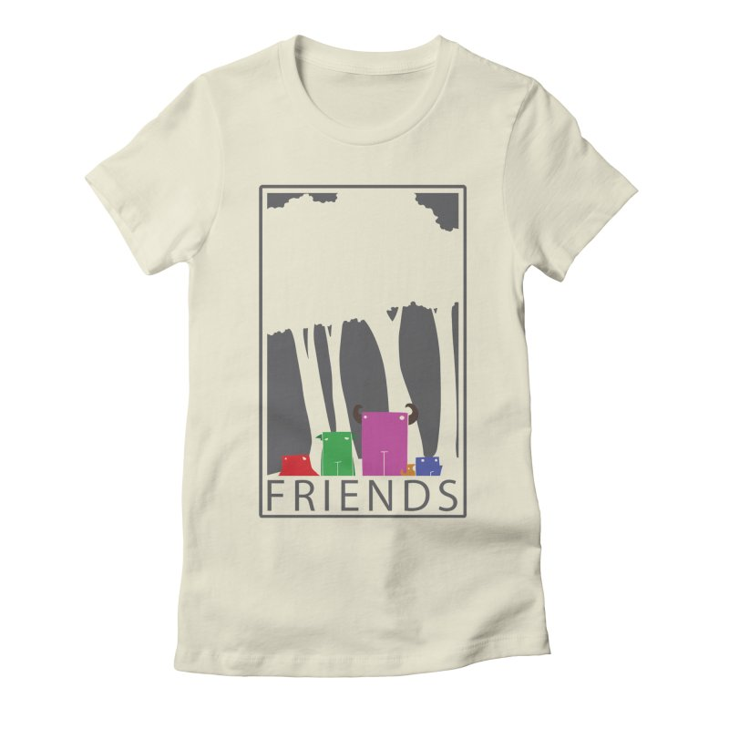 FRIENDS Women's Fitted T-Shirt by Dagoozle's Artist Shop