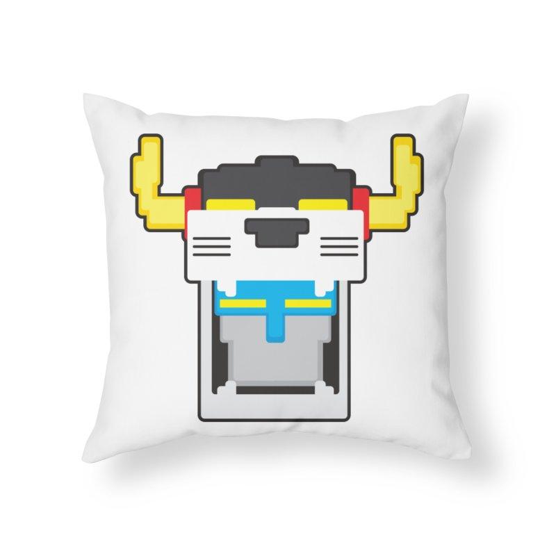 Voltron Cubed Head Home Throw Pillow by Dagoozle's Artist Shop