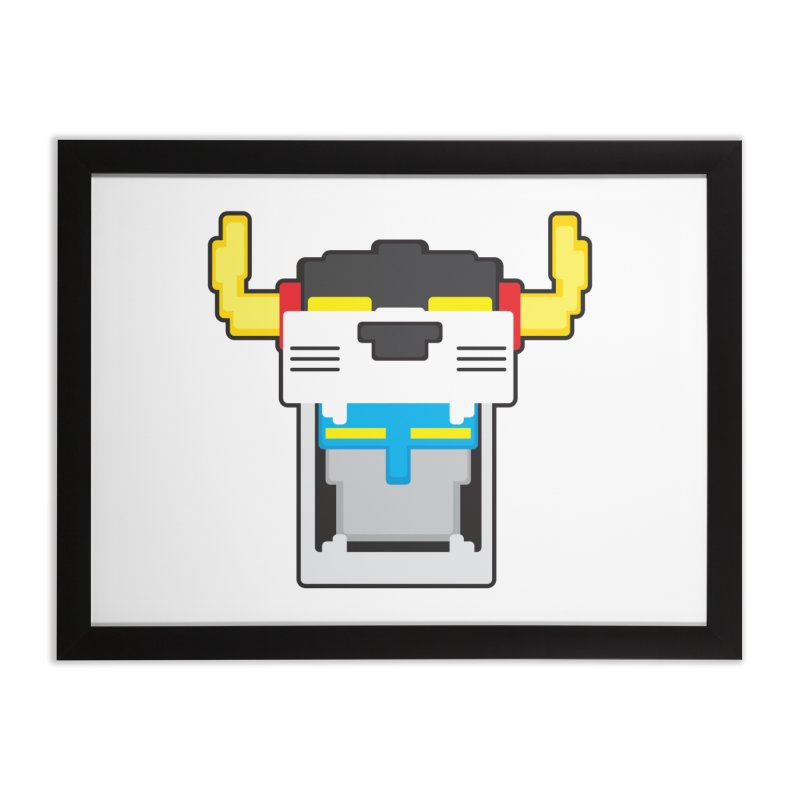 Voltron Cubed Head Home Framed Fine Art Print by Dagoozle's Artist Shop