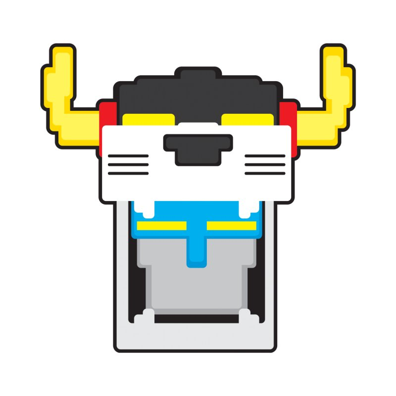 Voltron Cubed Head by Dagoozle's Artist Shop