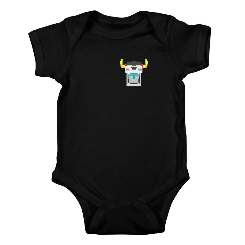 Voltron Cubed Head Kids Baby Bodysuit by Dagoozle's Artist Shop
