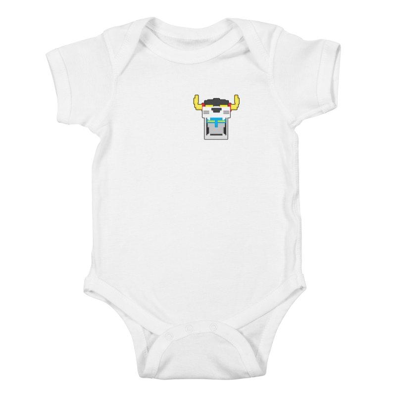 Voltron Cubed Head Kids Baby Bodysuit by Dagoozle's Artist Shop