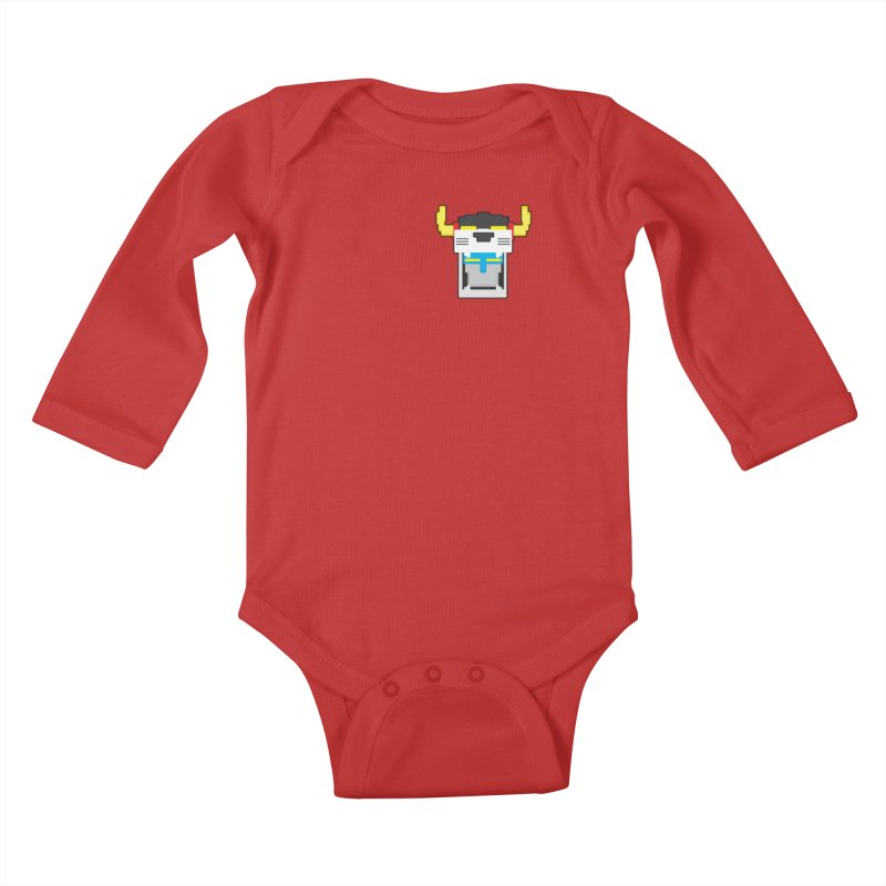 Voltron Cubed Head Kids Baby Longsleeve Bodysuit by Dagoozle's Artist Shop