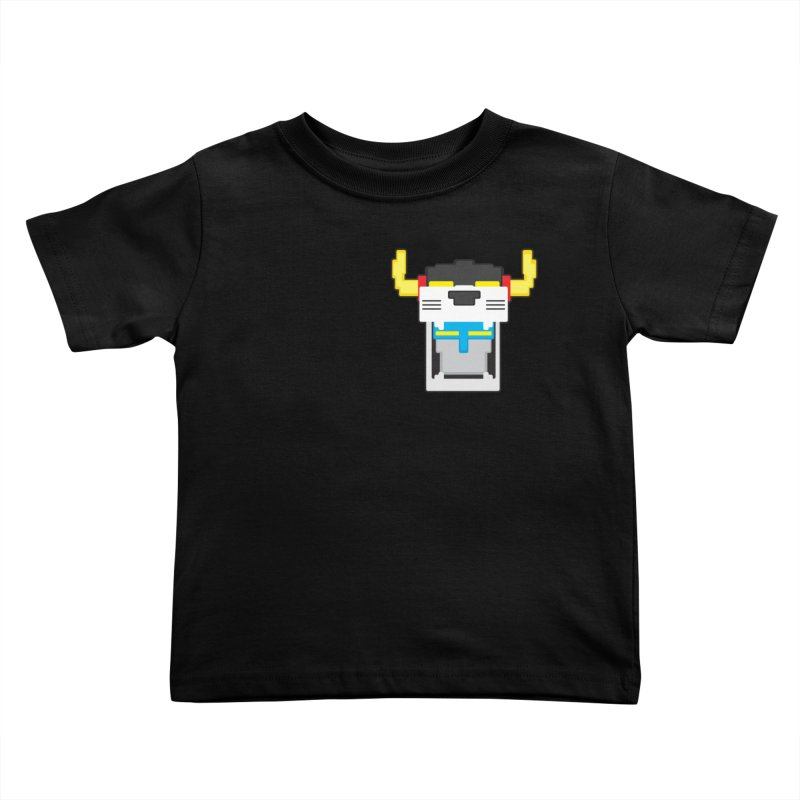 Voltron Cubed Head Kids Toddler T-Shirt by Dagoozle's Artist Shop