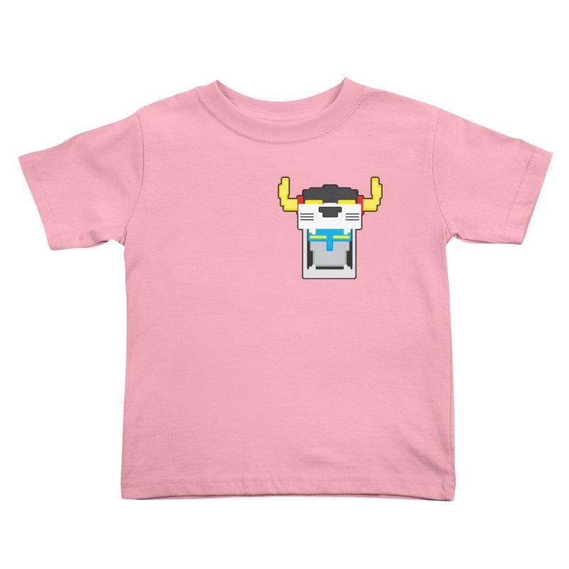 Voltron Cubed Head Kids Toddler T-Shirt by Dagoozle's Artist Shop