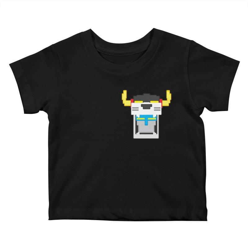 Voltron Cubed Head Kids Baby T-Shirt by Dagoozle's Artist Shop