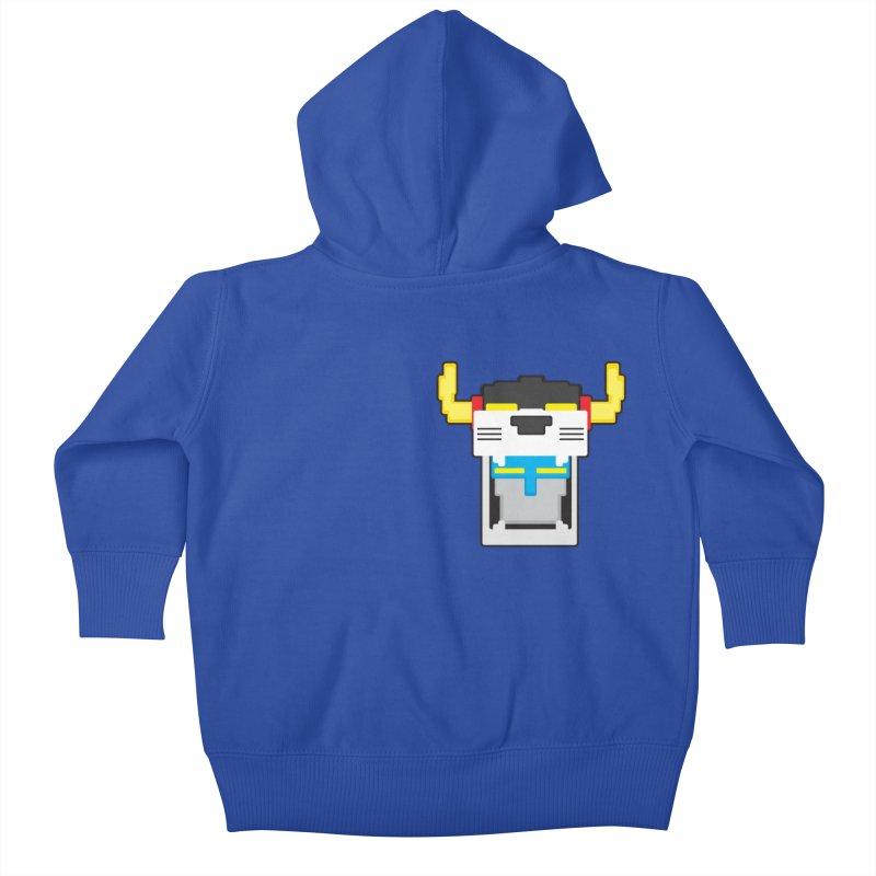 Voltron Cubed Head Kids Baby Zip-Up Hoody by Dagoozle's Artist Shop