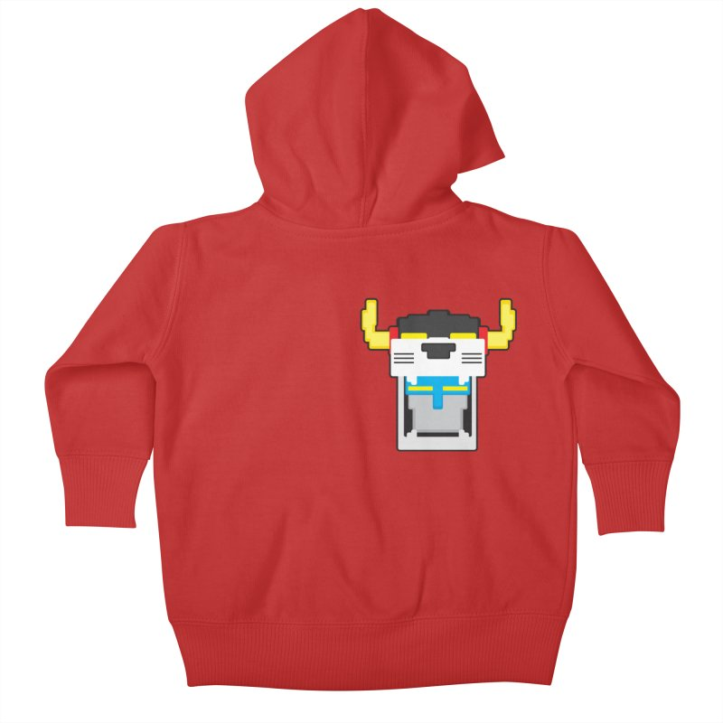 Voltron Cubed Head Kids Baby Zip-Up Hoody by Dagoozle's Artist Shop