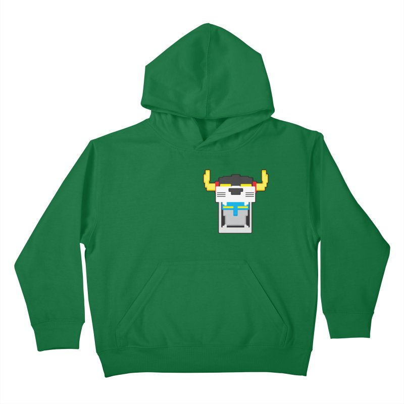Voltron Cubed Head Kids Pullover Hoody by Dagoozle's Artist Shop