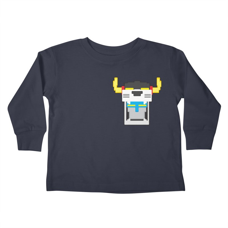 Voltron Cubed Head Kids Toddler Longsleeve T-Shirt by Dagoozle's Artist Shop