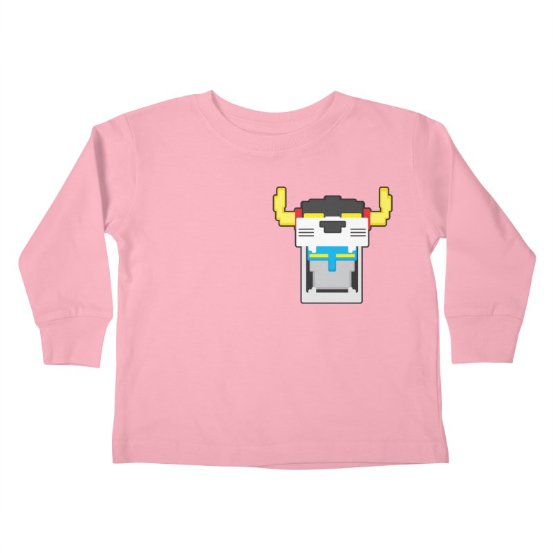Voltron Cubed Head Kids Toddler Longsleeve T-Shirt by Dagoozle's Artist Shop