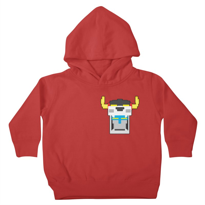 Voltron Cubed Head Kids Toddler Pullover Hoody by Dagoozle's Artist Shop
