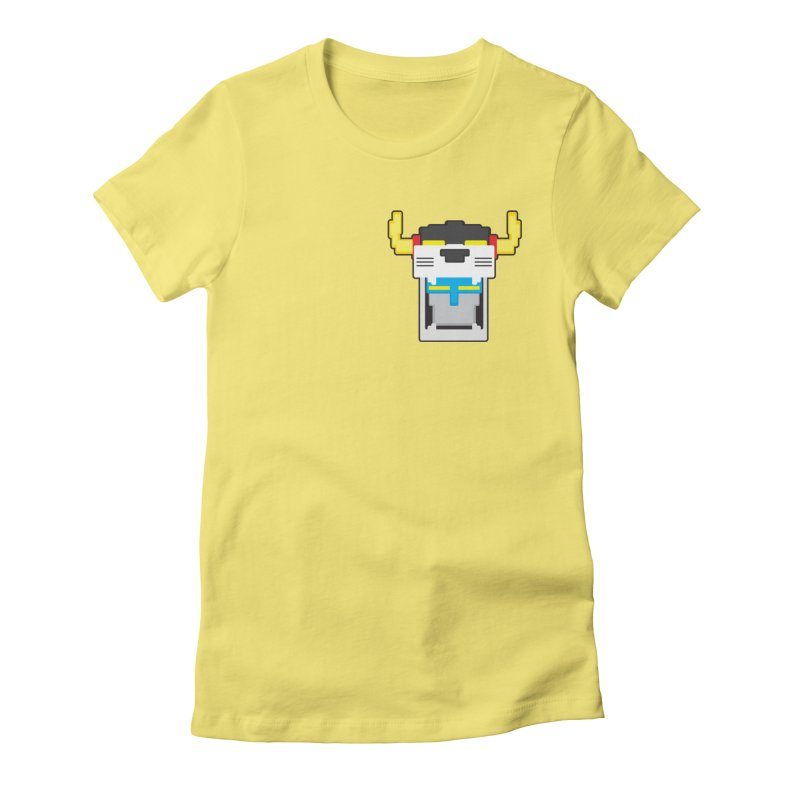 Voltron Cubed Head Women's Fitted T-Shirt by Dagoozle's Artist Shop