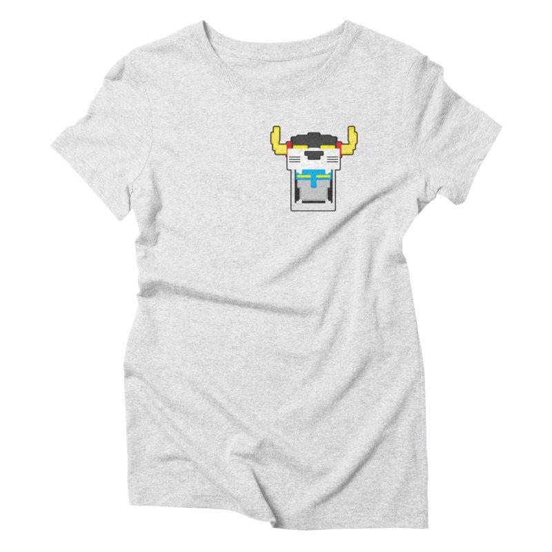 Voltron Cubed Head Women's Triblend T-Shirt by Dagoozle's Artist Shop