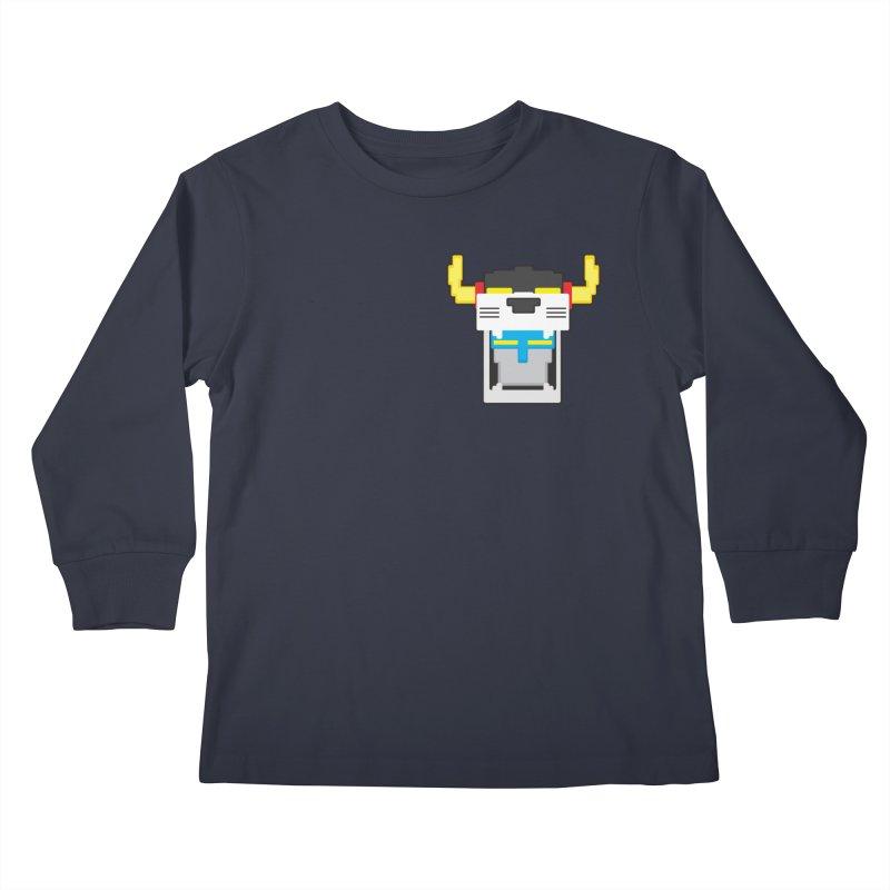 Voltron Cubed Head Kids Longsleeve T-Shirt by Dagoozle's Artist Shop