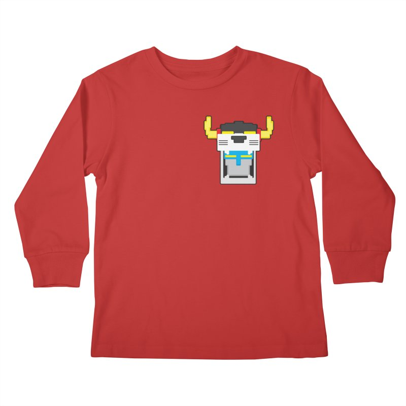 Voltron Cubed Head Kids Longsleeve T-Shirt by Dagoozle's Artist Shop
