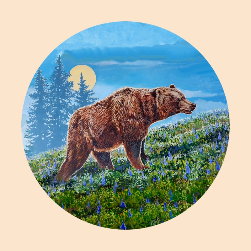 Full Moon & Grizzly  by Dan Coe Art