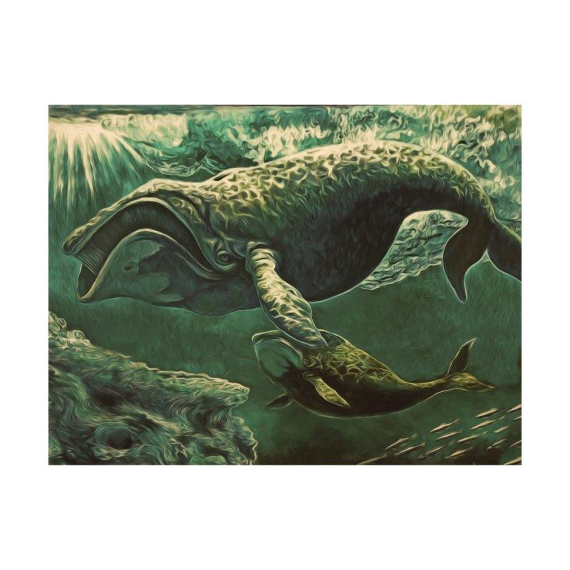 Bowhead Whales Home Shower Curtain by Dan Coe Art