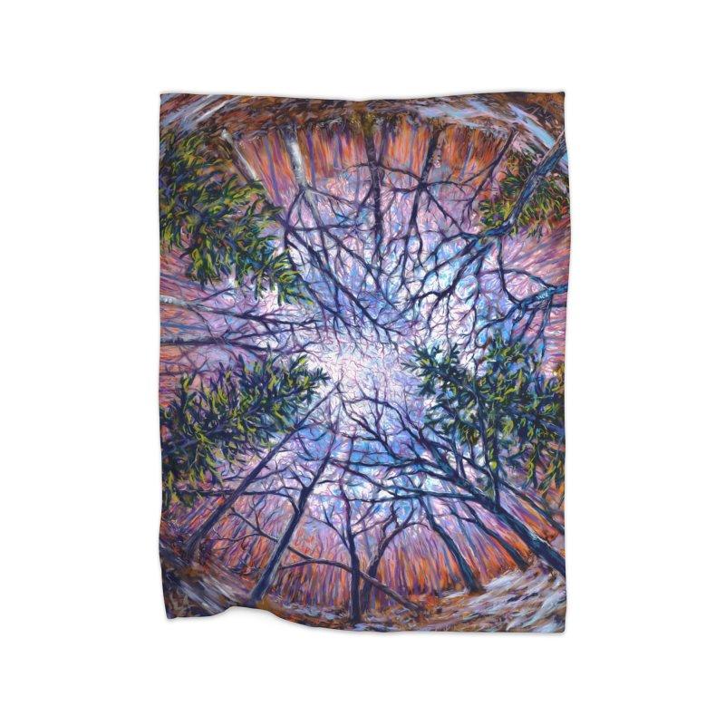 Forest eye  Home Blanket by Dan Coe Art