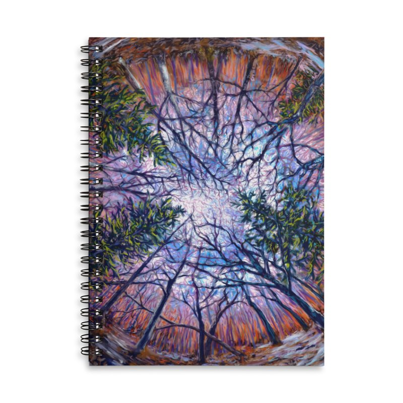 Forest eye  Accessories Lined Spiral Notebook by Dan Coe Art