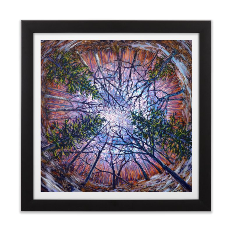 Forest eye  Home Framed Fine Art Print by Dan Coe Art