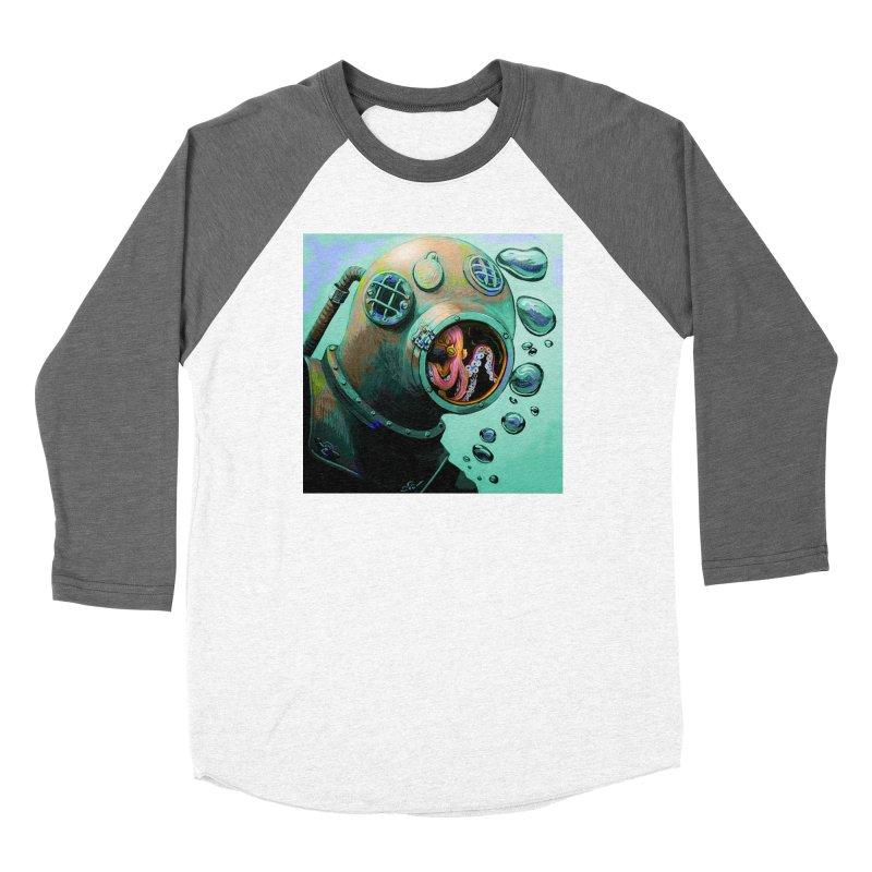 Octo Diver  Women's Longsleeve T-Shirt by Dan Coe Art