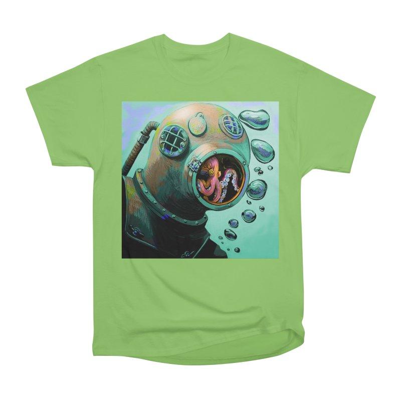 Octo Diver  Men's Heavyweight T-Shirt by Dan Coe Art