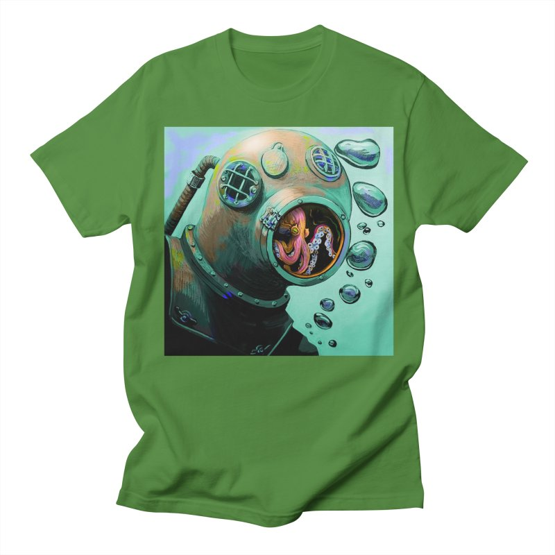 Octo Diver  Women's Regular Unisex T-Shirt by Dan Coe Art