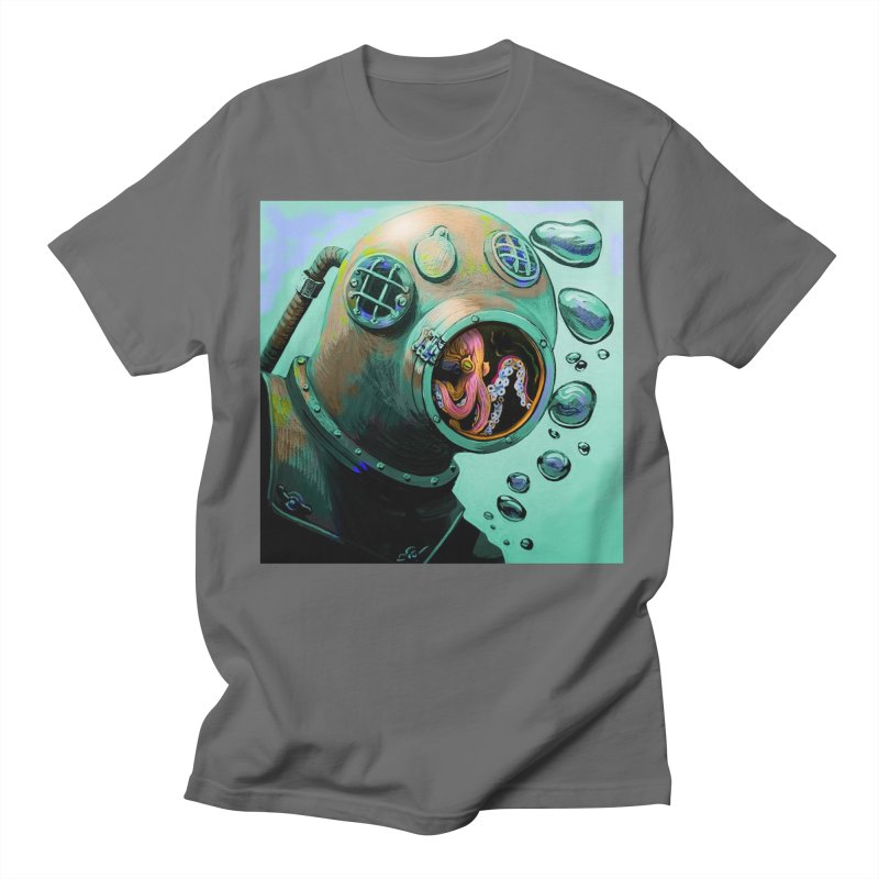 Octo Diver  Men's T-Shirt by Dan Coe Art