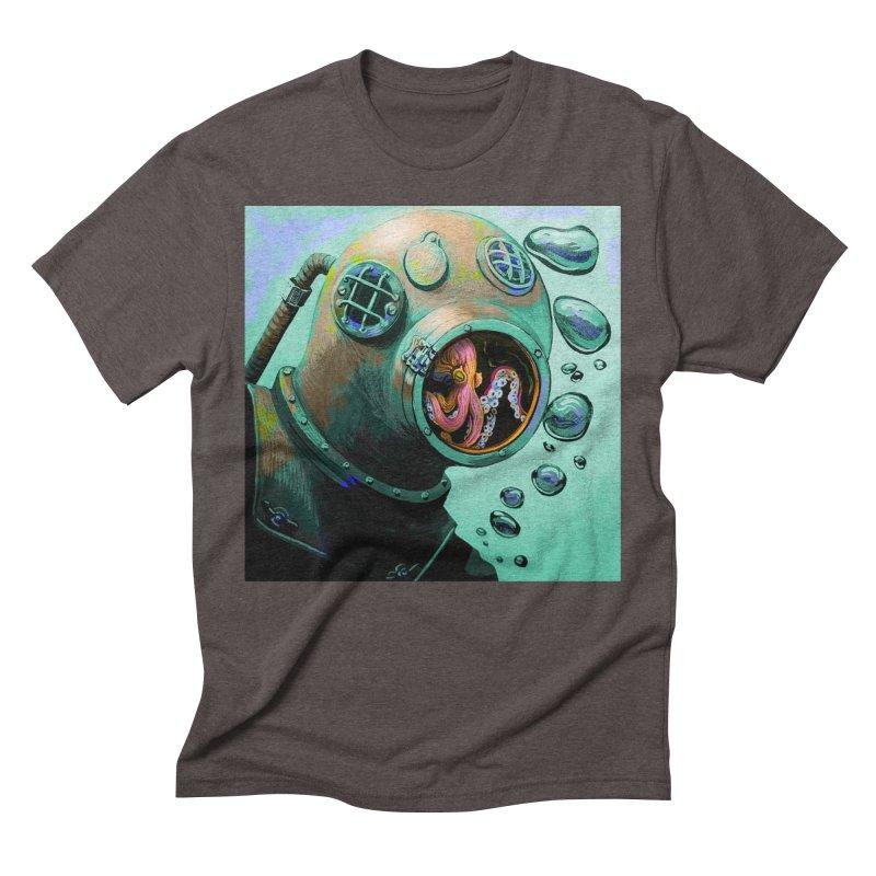 Octo Diver  Men's Triblend T-Shirt by Dan Coe Art