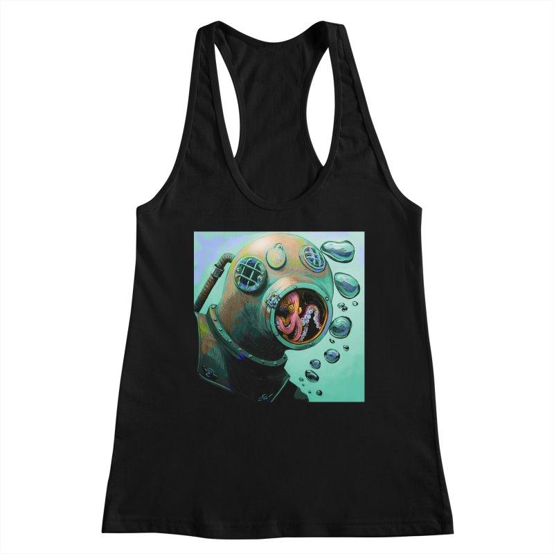 Octo Diver  Women's Tank by Dan Coe Art