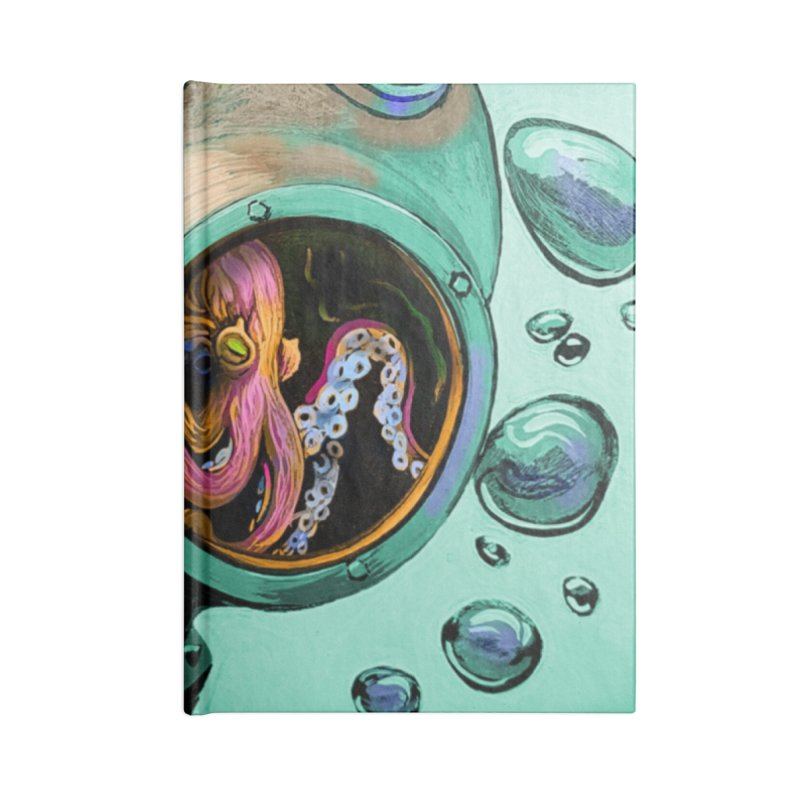 Octo Diver  Accessories Blank Journal Notebook by Dan Coe Art