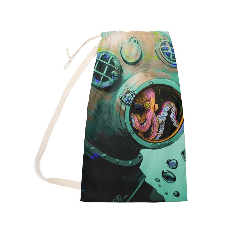 Octo Diver  Accessories Laundry Bag Bag by Dan Coe Art
