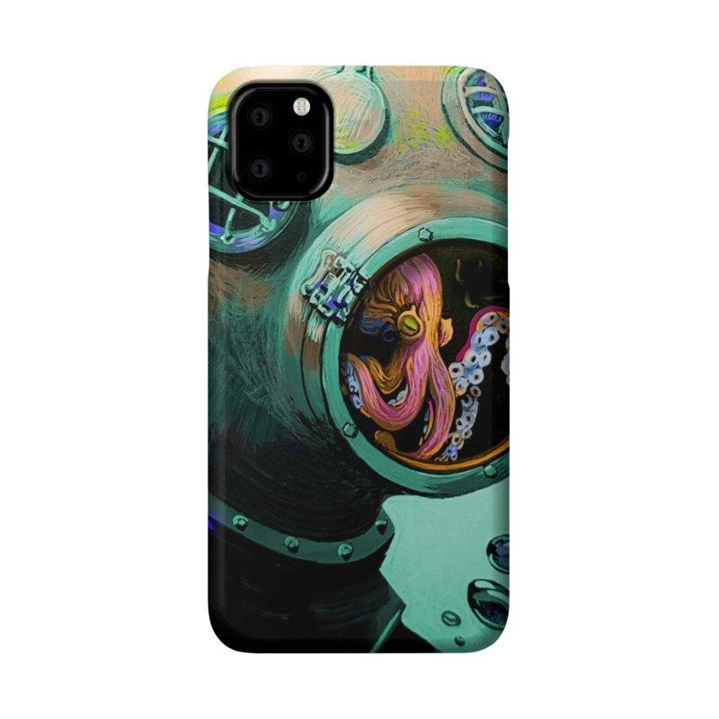 Octo Diver  Accessories Phone Case by Dan Coe Art