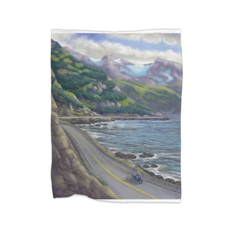 Turnagain Ride  Home Blanket by Dan Coe Art
