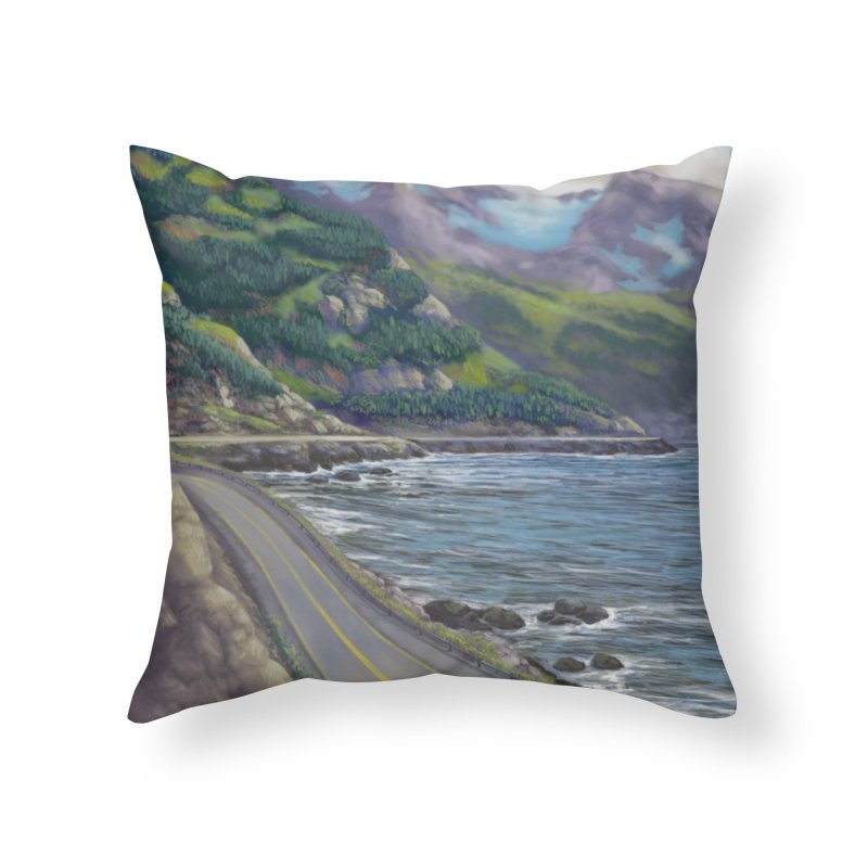 Turnagain Ride  Home Throw Pillow by Dan Coe Art