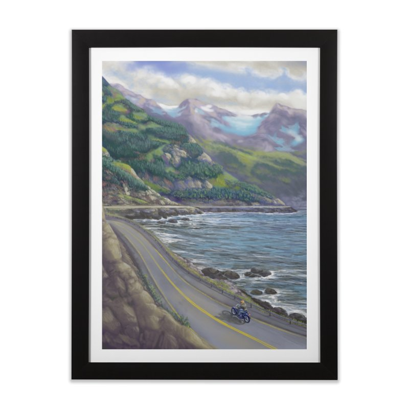 Turnagain Ride  Home Framed Fine Art Print by Dan Coe Art