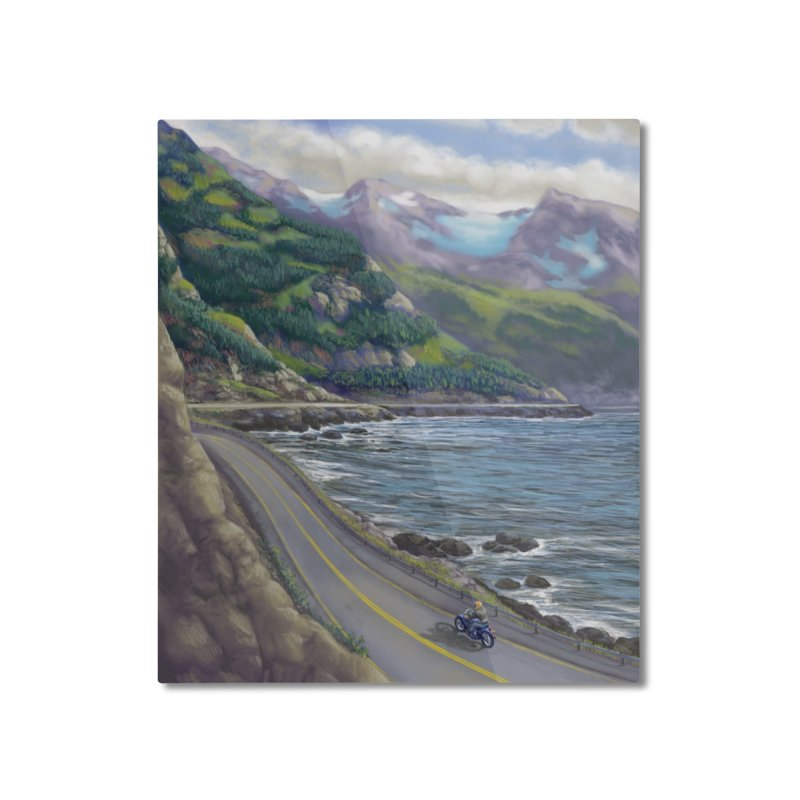 Turnagain Ride  Home Mounted Aluminum Print by Dan Coe Art